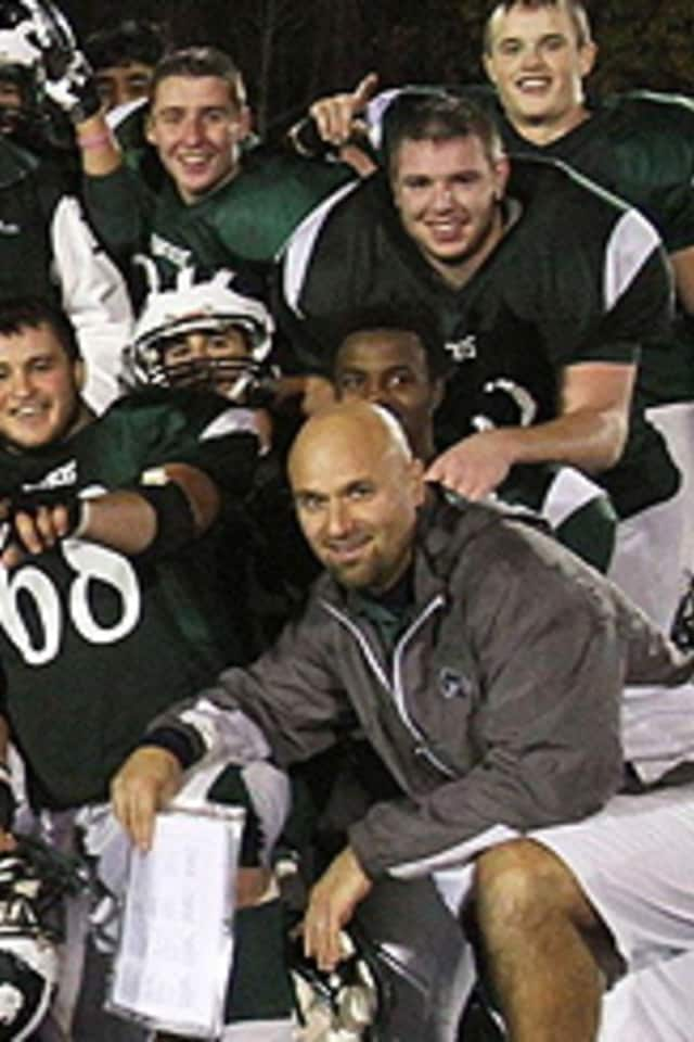"Tony Becerra of Pleasantville High School is the ""Lou Rettino High School Football Coach of the Week"""