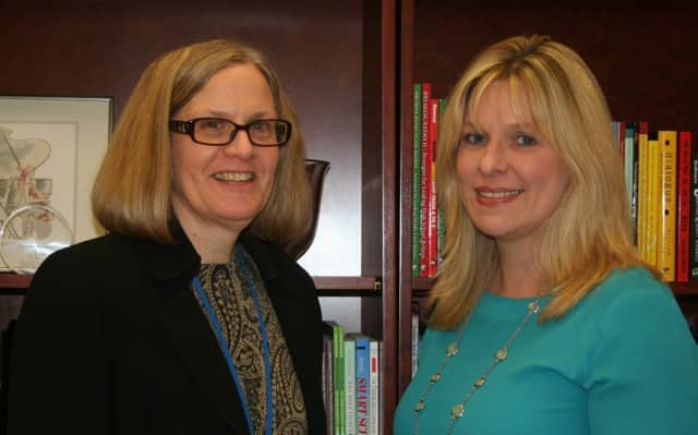 Joella Lykouretzos and Helena McSherry are members of the public relations committee for the Bronxville School Foundation.