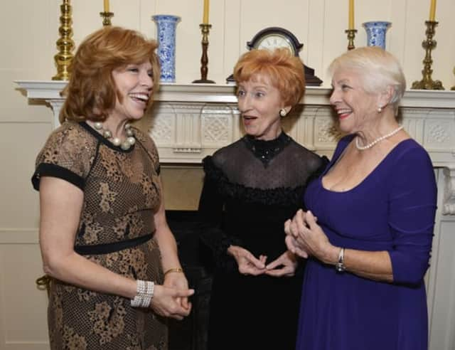 Nearly 200 people attended the 30th anniversary of the Larchmont Mamaroneck Community Television. Co-founder Sunny Goldberg smiles with honorees Elaine Chapnick and Eileen Mason.