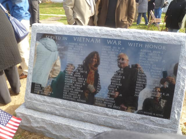 Veterans of the Vietnam and Korean Wars were honored with their own monument at VFW Post 200 in Hastings on Veterans Day
