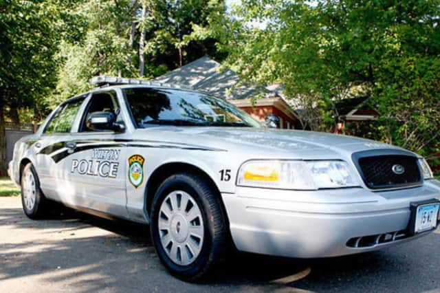 A Wilton woman has lost an arm after being attacked by her pet pit bull, according to police.