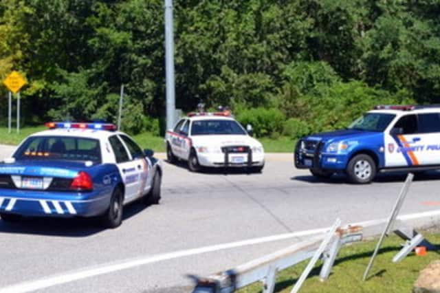 Westchester County Police responded to a domestic dispute between a father and son Saturday.