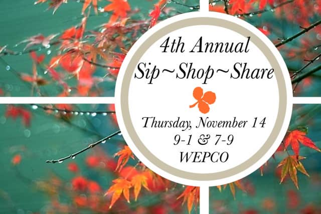 Shop for holiday gifts at the fourth annual Sip-Shop-Share event and help support ElderHouse, an adult day center that serves seniors in and around Wilton.