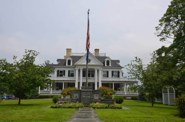 The historic Lounsbury House hosts a champagne party on Nov. 21.