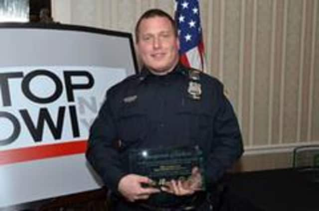 Bedford Police Officer Jonathan Evanswas recognized by Mothers Against Drunk Driving recently.