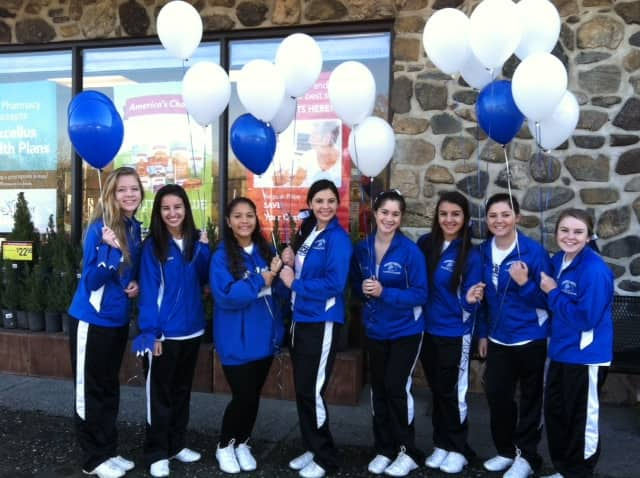 Hen Hud cheerleaders put smiles on many faces in the community on Saturday, Nov. 16.