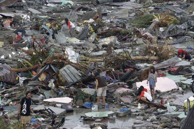 The Afya Foundation sends supplies worldwide during emergencies, such as the massive earthquake in the Philippines.
