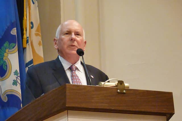 Westport First Selectman Jim Marpe, a Republican, signed a statement of principles aimed at cracking down on illegal firearms.
