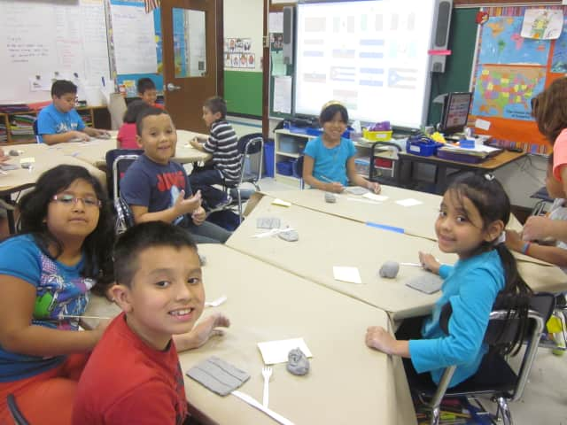 Port Chester's Thomas Edison Elementary School is helping students flex their creative muscles with a project from Clay Art Center.