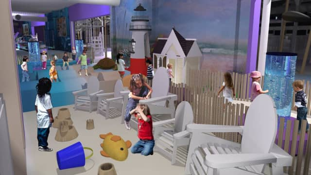 """The Westchester Children's Museum in Rye recently received a $25,000 to build a learning laboratory called """"Toddler Beach."""""""