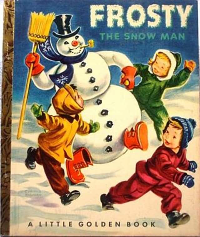 Frosty the Snowman visits the Pleasantville Middle School on Dec. 7.