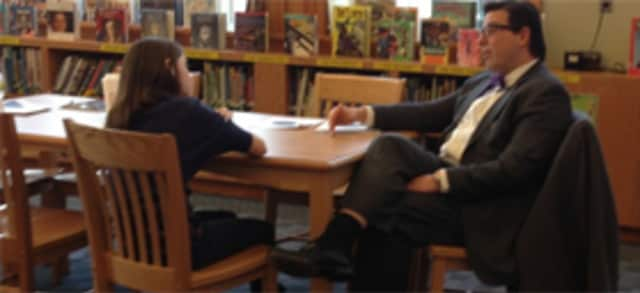 Peter Giarrizzo visits Hutchinson School.