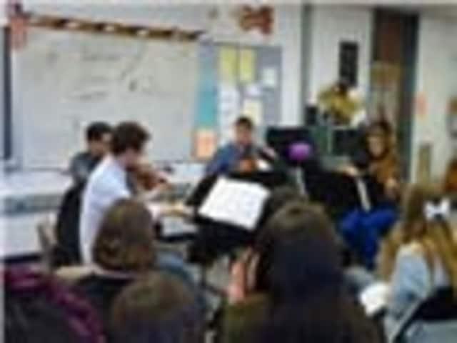 The Dover Quartet visits John Jay Middle School.