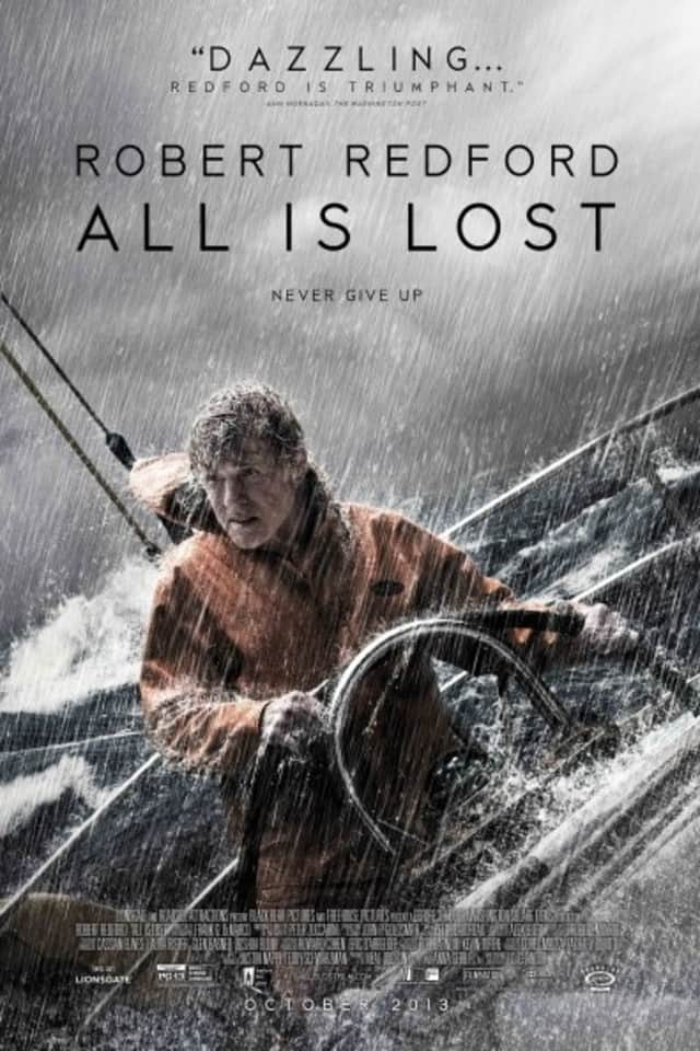 All Is Lost, starring Robert Redford, is currently showing at Avon Theatre in Stamford.