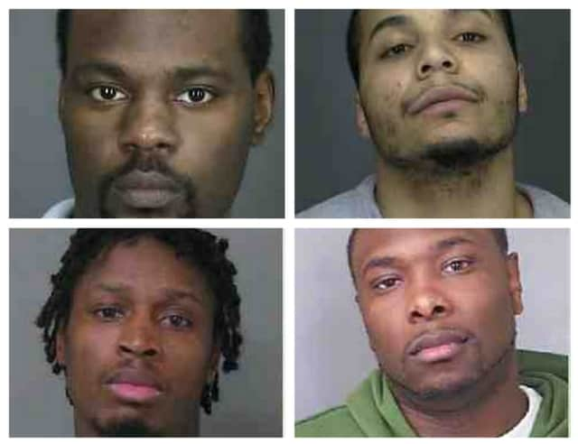 The four members of the Mount Vernon gang that were indicted on Thursday.