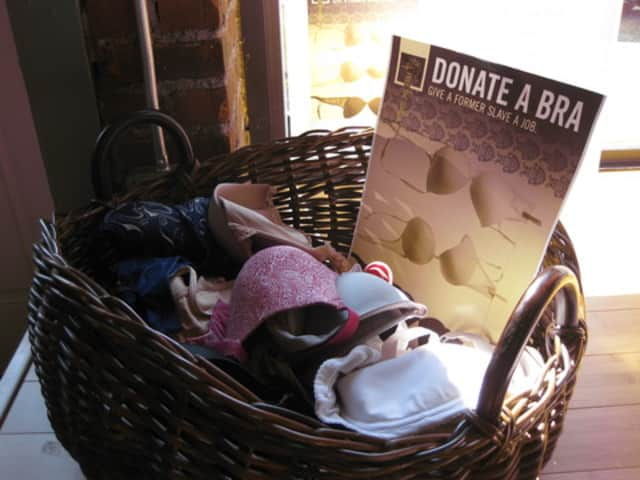 Tiger Lily Boutique owner Cathy Deutsch is collecting bras for Free The Girls.