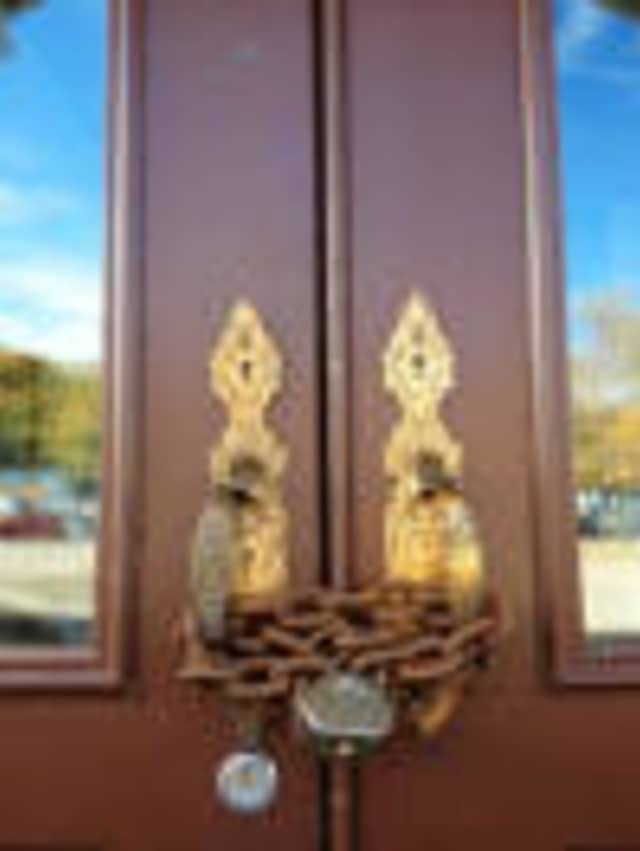 The doors remain closed at the Ossining Boat and Canoe Club.