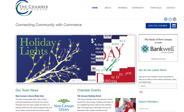 The New Canaan Chamber of commerce unveiled its new website on Monday, Nov. 18.