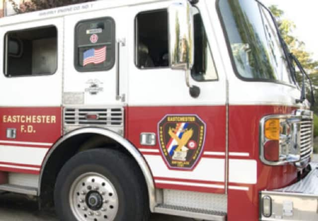 Firefighters in Eastchester helped a woman out of a home on Sunday night.