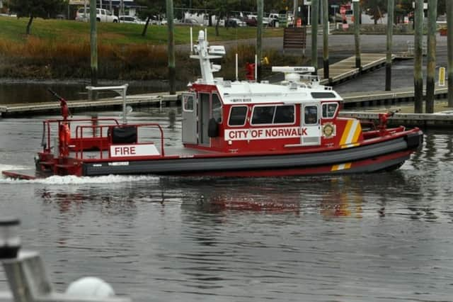 The Norwalk Fire Department rescued two jet skiers after their vessels broke down stranding them on Goose Island.