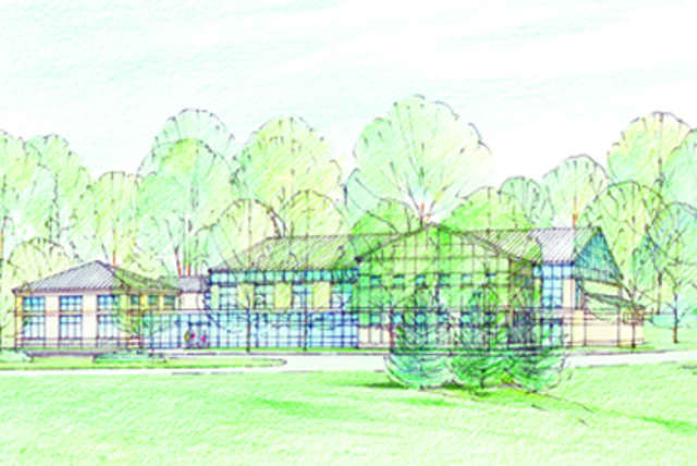 A rendering of what the exterior of the new field house will look like at the School of the Holy Child in Rye.