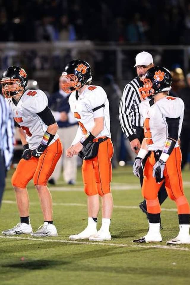 Ridgefield quarterback Ryan Dunn (6) brings the team to the line of scrimmage during a game earlier this year.