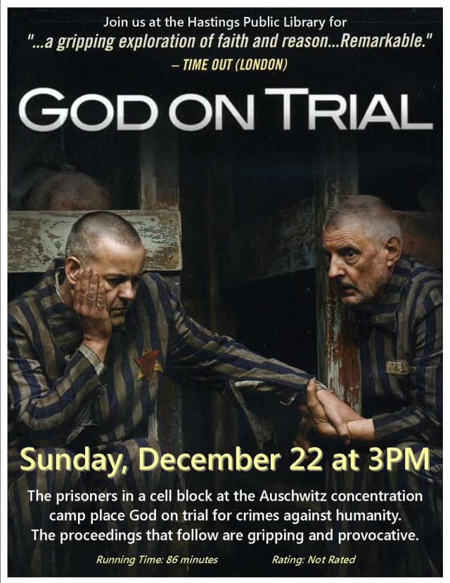 "The Hastings-on-Hudson Public Library is set to screen ""God on Trial"" later this month."