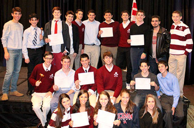 The Harrison High School Model Congress team won ten awards at the Princeton Model Congress Conference.