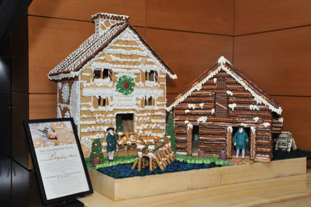 The Ritz-Carlton, Westchester unveiled the 270lb gingerbread replica on December 3. The house will stand in the lobby of the Hotel until the end of December.