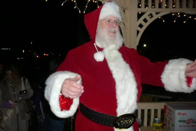 Santa Claus will visit with children in Wilton Center Friday night following the town's tree lighting ceremony.