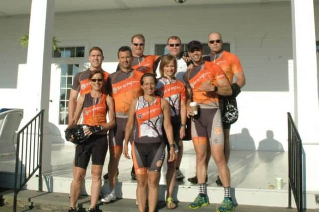 Team Sherpa of Westport, captained by Jean Desrosiers and Brett Jones, was one of the teams honored by the CT Challenge for its fund raising for last summer's ride.