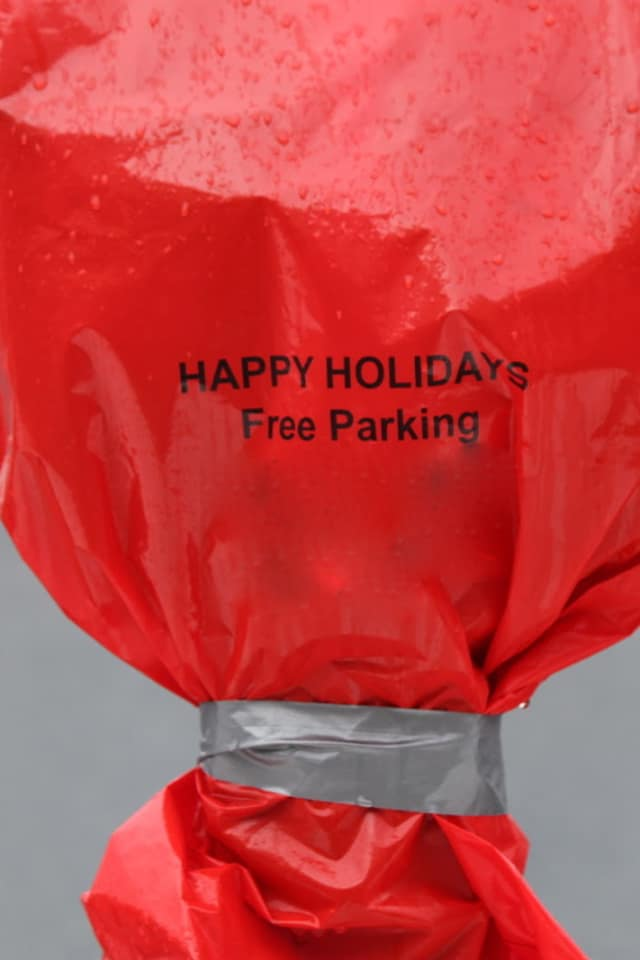 Parking meters will be bagged in Pelham from Dec. 17-24 as a convenience to shoppers.