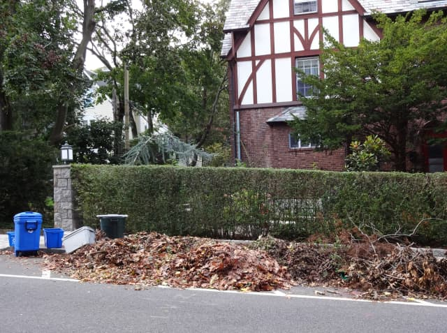 Residents in areas zoned for lots of one acre or less are asked to rake all of their leaves into the curb.