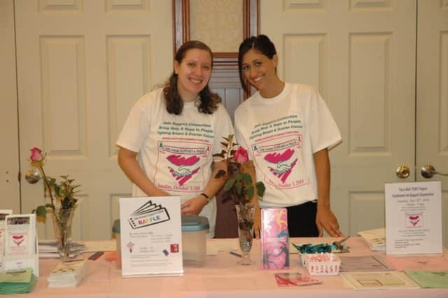 Janine Belsky, a Student Intern, and Michelle DeIeso, Development and Outreach Coordinator at the 2010 Yorktown Support Connection breakfast.