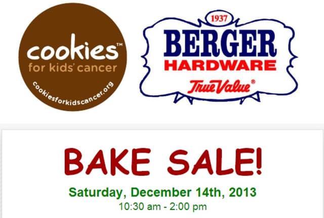 Hawthorne's Berger Hardware is hosting a Bake Sale fund-raiser for Cookies For Kids' Cancer.