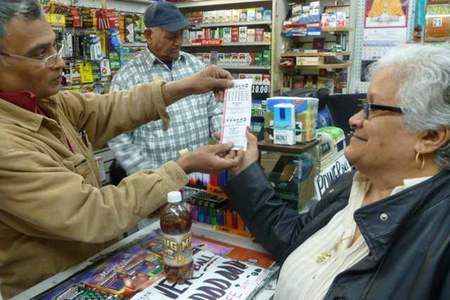 The Mega Millions jackpot is up to $449 million with the drawing at 11 p.m. Tuesday.
