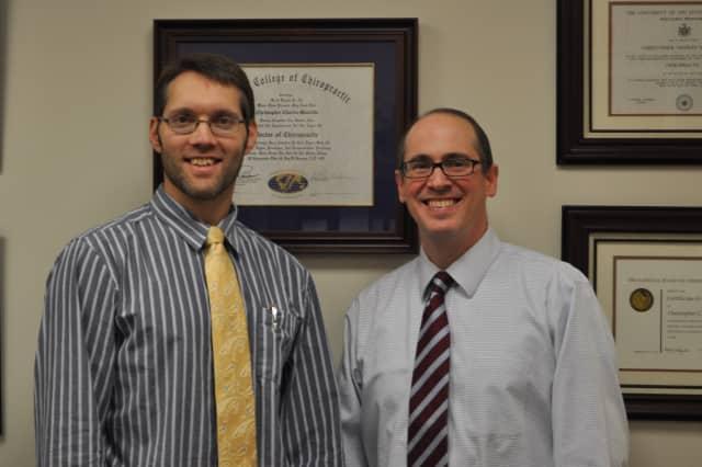 Dr. Christopher Mascetta, founder and director of Ridgefield Chiropractic & Wellness Center, welcomes Dr. Jonathon Kramer.