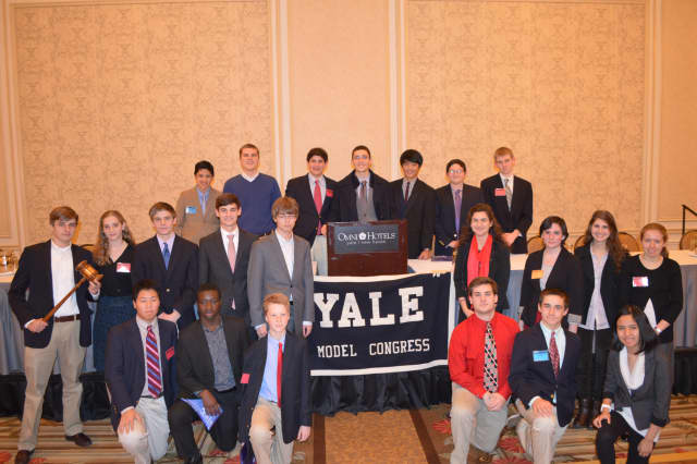 The Wilton High School Model Congress Club completed a successful legislative session at Yale recently.