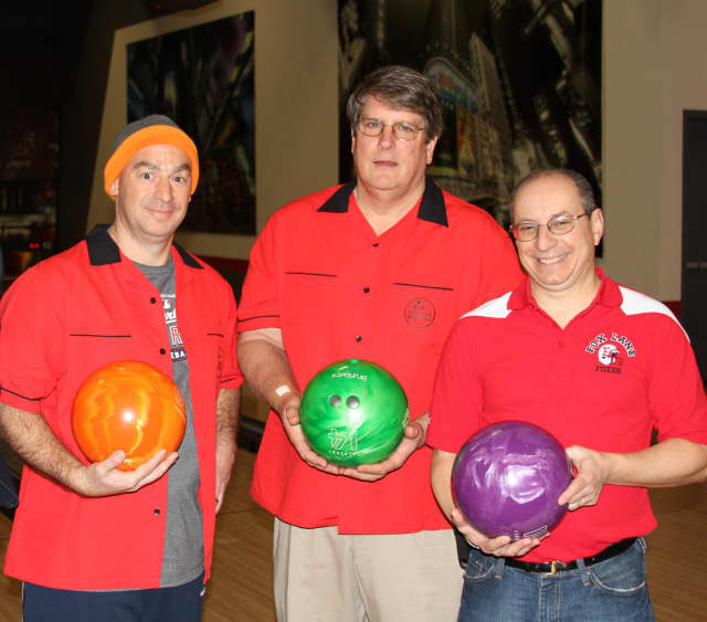 A Bowl-A-Thon to benefit the Fox Lane Sports Booster Club (FLSBC) will be held at Grand Prix New York in Mount Kisco on Jan. 9. Participants from the 2014 bowl-a-thon are shown here.