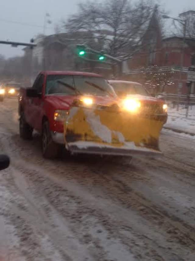 Roads are sloppy after Tuesday's snowstorm.