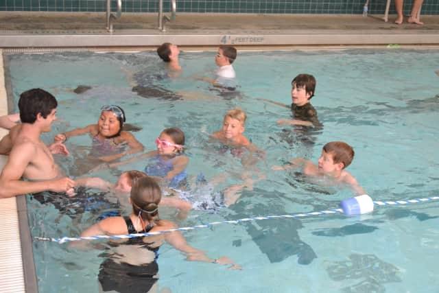 Youngsters enjoy Club Fit's aquatics class.