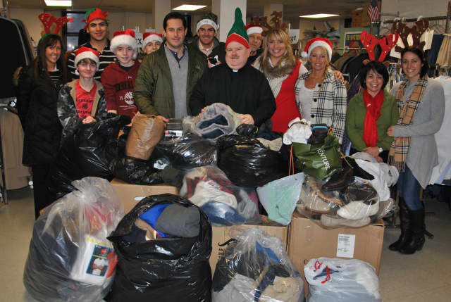 Sen. Greg Ball delivers clothing to Montrose VA Hospital.