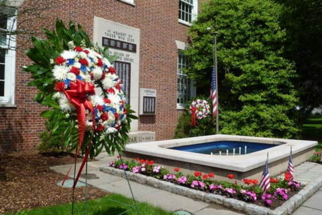 Wreaths are traditionally placed at Rye's war memorial outside City Hall every Memorial Day, but next year there will be a parade prior to the event.
