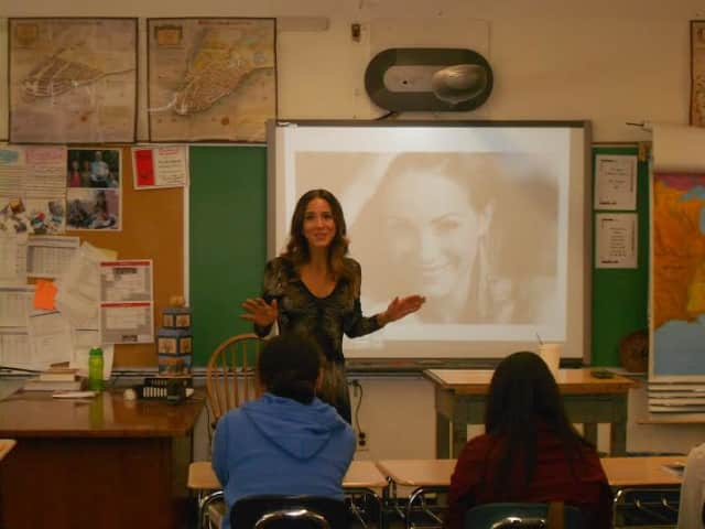 Eastchester Middle School students recently got a glimpse of many possible career paths as the school recently hosted its Career Day. The day included a visit from TV Host Ereka Vetrini.