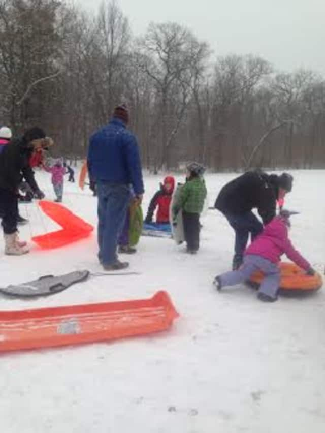 With no school Friday, kids in New Canaan can enjoy some sledding.