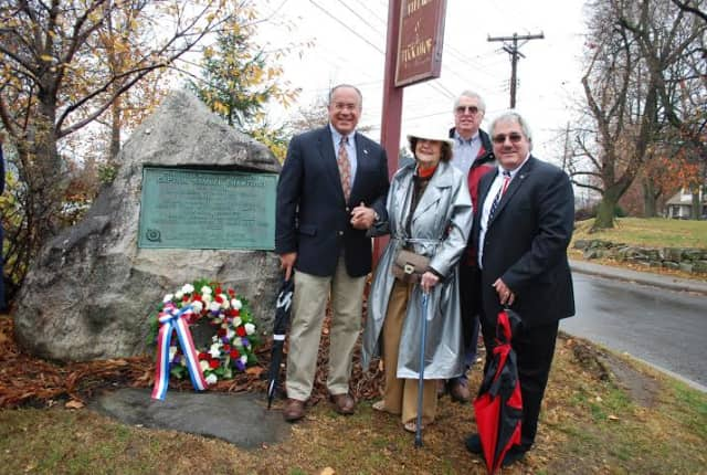 Local politicians joined with the Society of the Daughters of the American Revolution in honoring Scarsdale war hero.