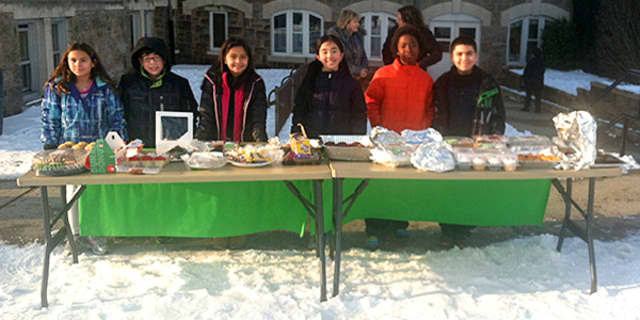 Students from Parsons Elementary School held a bake sale to help raise money for coats for the needy.