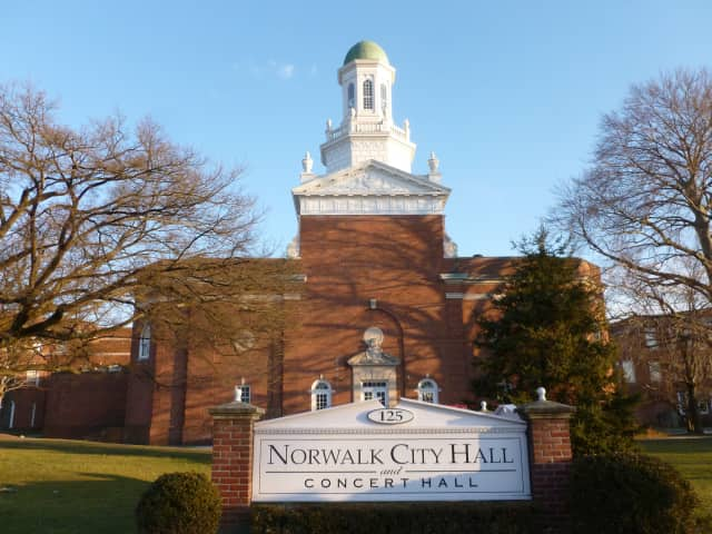 Norwalk City Hall is open as a cooling center on Tuesday.