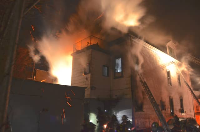 This fire in a multifamily home at 164 Beech St., Yonkers, was probably accidental, fire officials said.