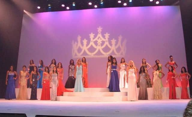 Contestants at Miss Westchester and Miss Hudson Valley pageant in August 2013. A Yonkers woman was named Miss Westchester.